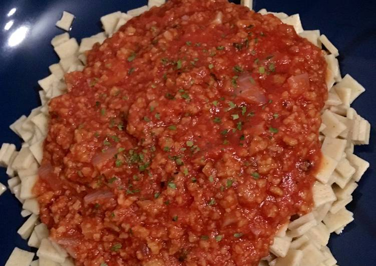 Crozets de Savoie et bolognaise végétarienne