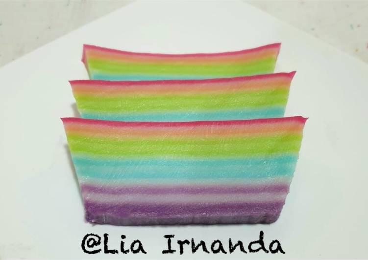 Kue Lapis Tepung Beras n Tapioka Rainbow 🌈🌈 - cookandrecipe.com