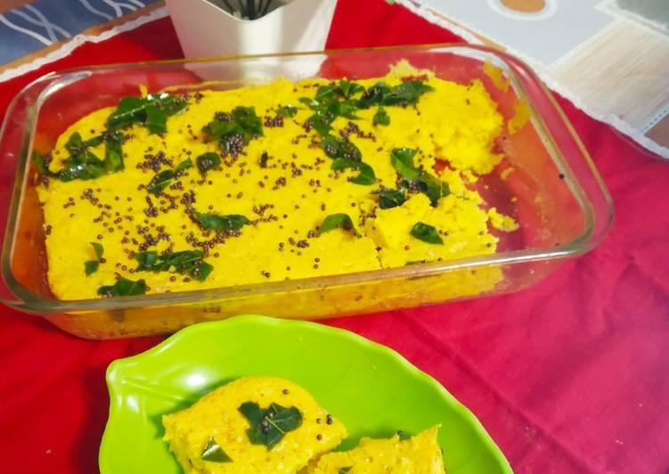 Sooji Besan Dhokla in Microwave