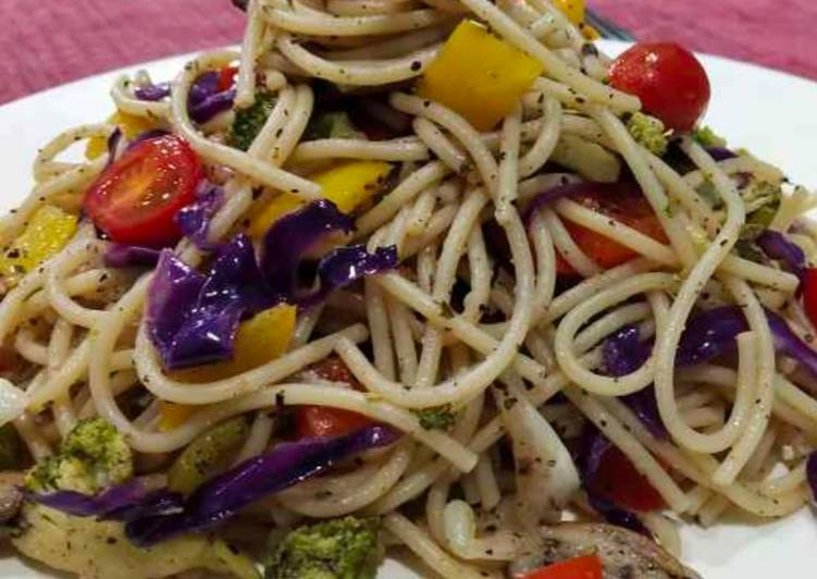 Simple Way to Make Any-night-of-the-week Veg spaghetti salad