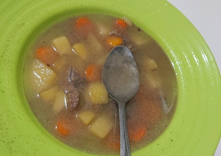 Resep Sup Daging Sayuran Untuk Meringankan Flu Yang Gurih