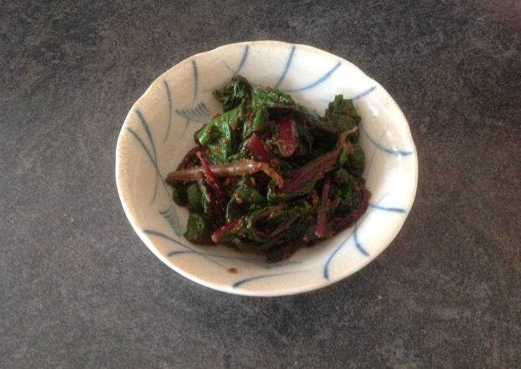 """15 Minute Easiest Way to Prepare Quick Beetroot leaves and sesame dressing   """"Don't throw away 2"""""""