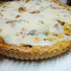Tarta de zapallitos, zanahoria y berenjena con masa casera