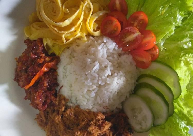 Nasi Uduk Rice Cooker Simple