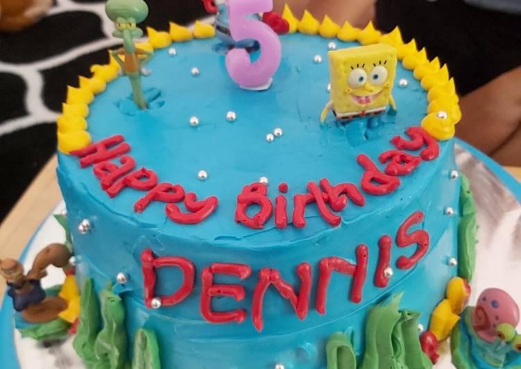 Spongebob Vanilla Cake - cookandrecipe.com