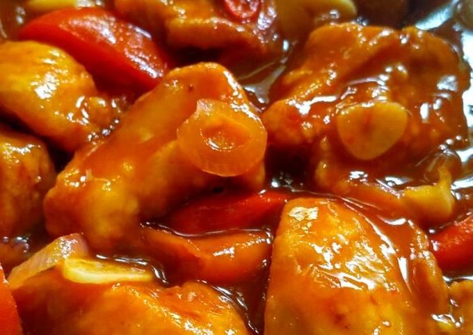 Resep Ayam Tepung Saus Asam Pedas Oleh Ummu Balqis Cookpad