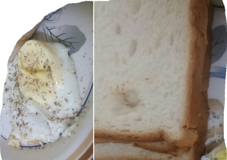 Easiest Way to Make Favorite Half fried egg with  bread for breakfast