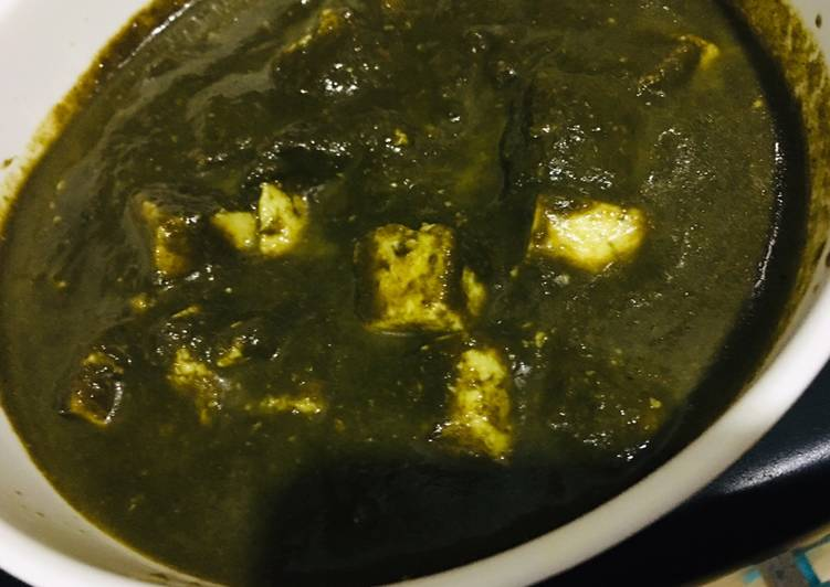Recipe: Delicious Quick Paalak Paneer