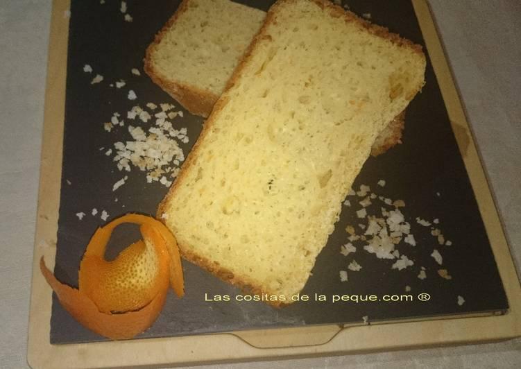 Brioche de naranja y sésamo en panificadora