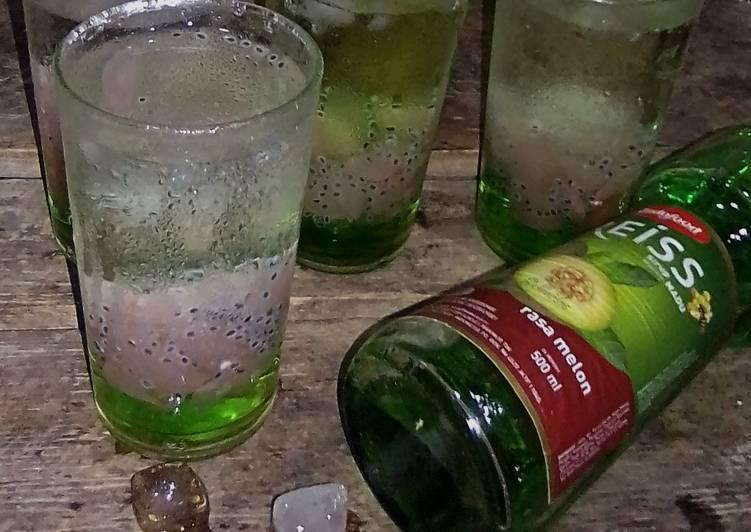 Es Kolang Kaling Selasih Syrup Melon