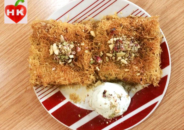 Kunafeh with nuts