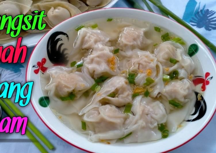 Cara Menyiapkan Resep Pangsit Kuah Udang Ayam, Simple Dan Enak Anti Gagal!