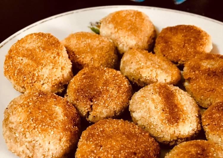 Steps to Prepare Homemade Narkol posto bora/ coconut poppyseed fritters