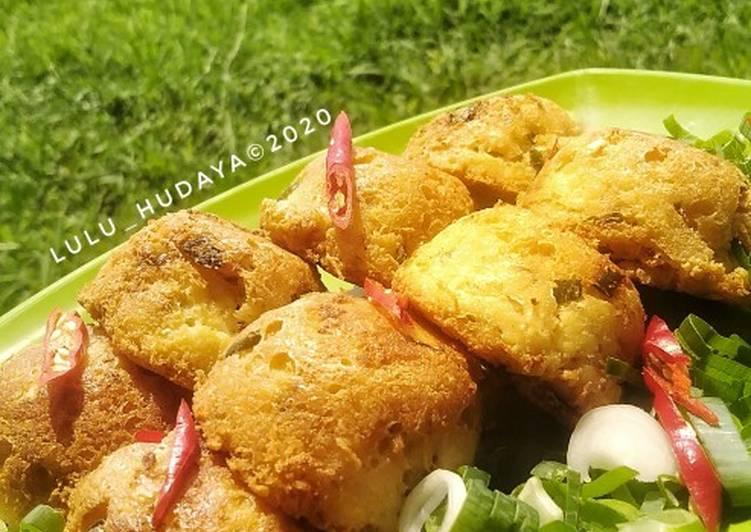 Perkedel kelapa Tahu - cookandrecipe.com