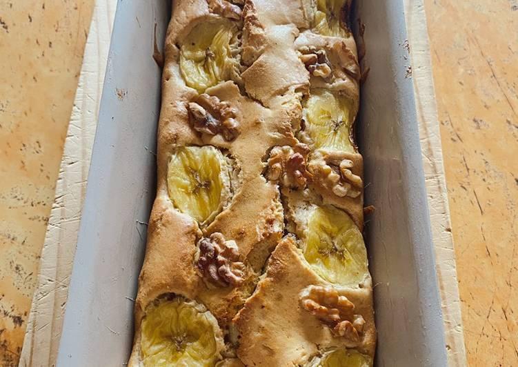 Banana bread (pan de plátano) con virutas de chocolate