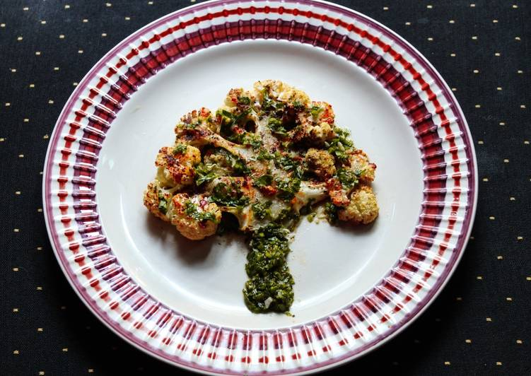Cauliflower Steak with Chimichurri Sauce
