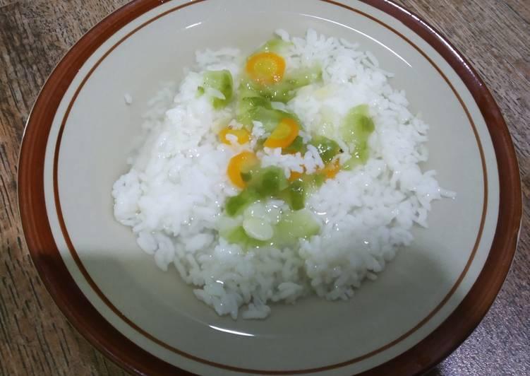 Sayur bening gambas dan wortel