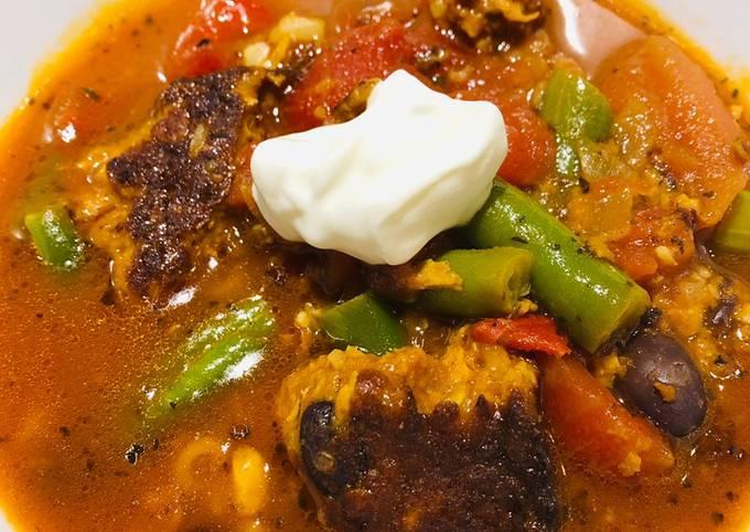 Chipotle Black Bean Burger Soup 🥣