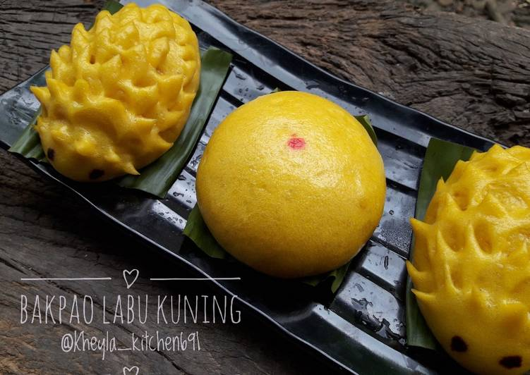 Resep Bakpao Labu Kuning Lembut Tanpa Obat Oleh Kheyla S Kitchen Cookpad