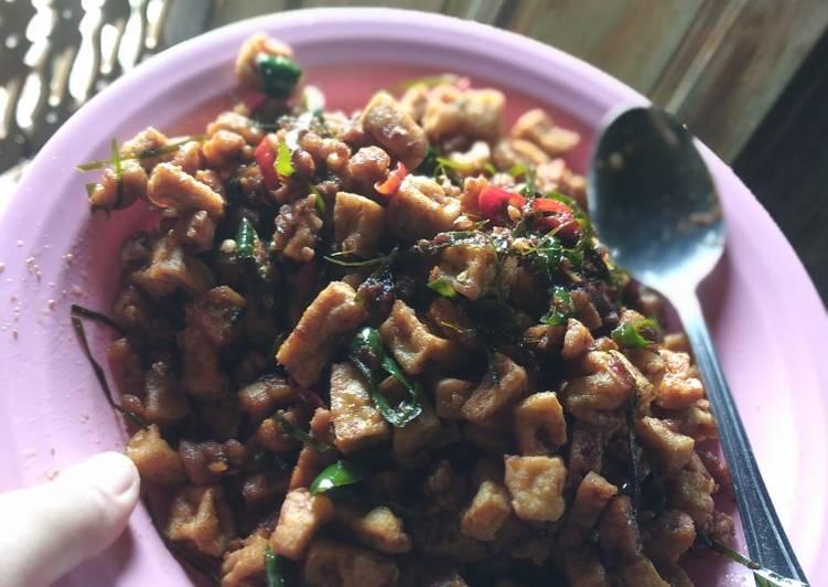 Resep Oseng tahu tempe daun jeruk Anti Gagal