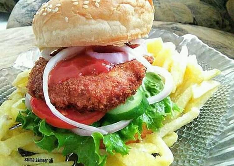 Chicken patty burger #ramadankitayari