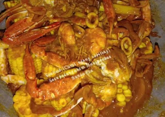 Seafood, (Cumi, udang, kepiting) Saos padang asam Manis pedas - projectfootsteps.org