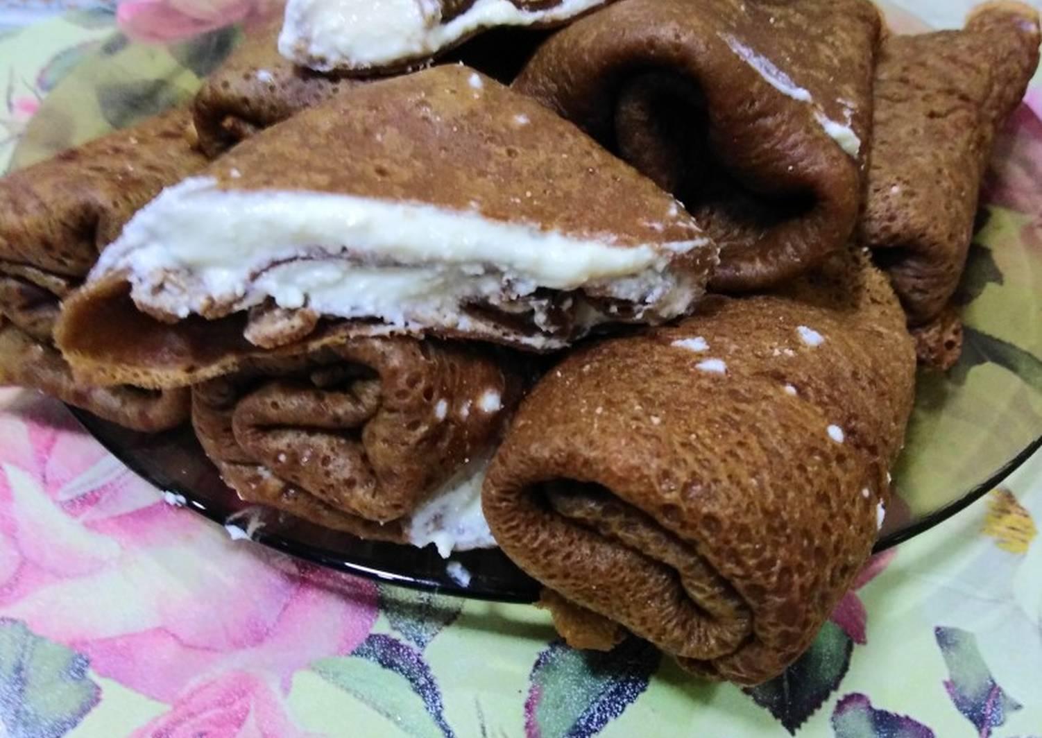 шоколадные блинчики на кефире рецепт с фото фото