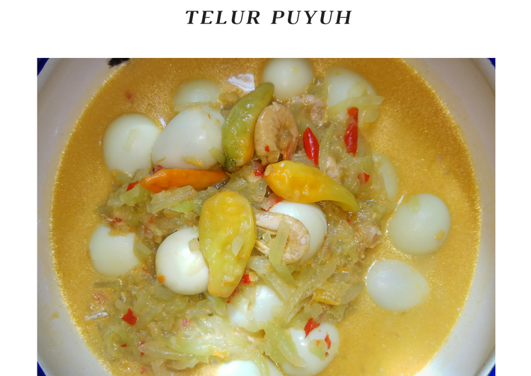 Sambel Goreng Labu Siam & Telur Puyuh