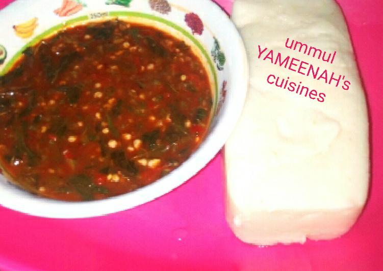 How to Prepare Favorite Tuwon masara da miyar okro and owedu