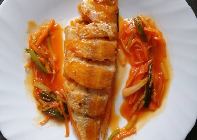 Recipe of Fried Red Mullet Fish Step by Step