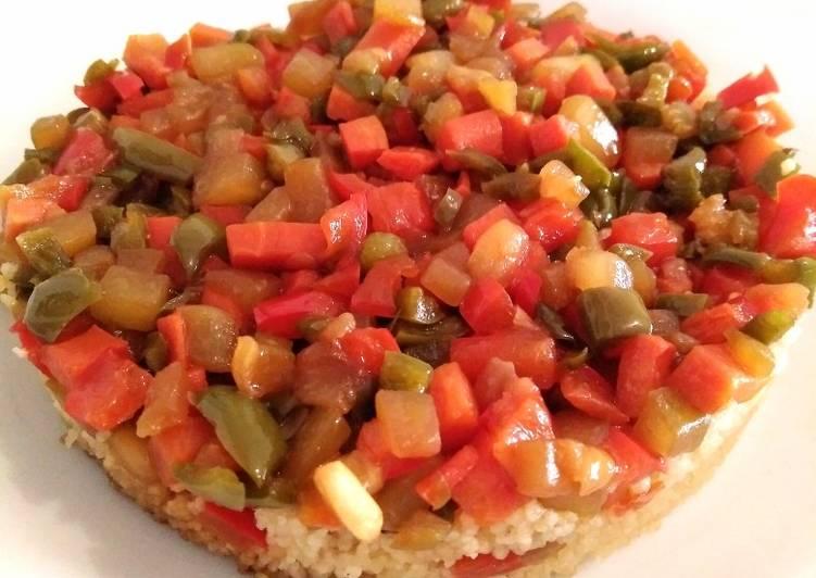 Cuscús con verduras y soja. Receta vegana y vegetariana