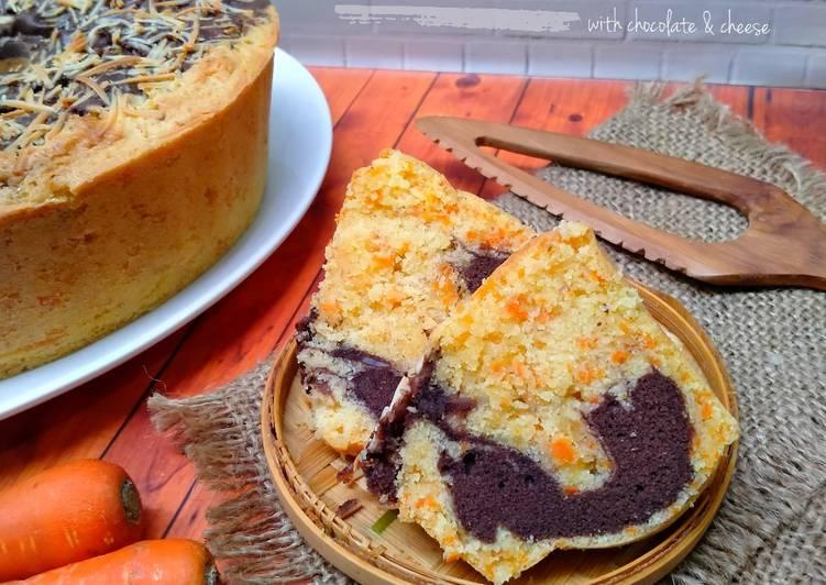 Carrot cake (bolu wortel) dengan coklat & keju