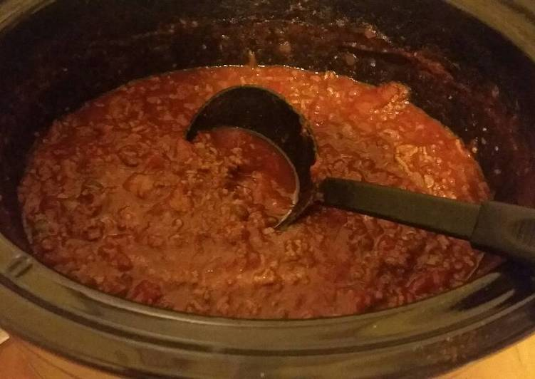 Crock Pot Bean-Free Chili