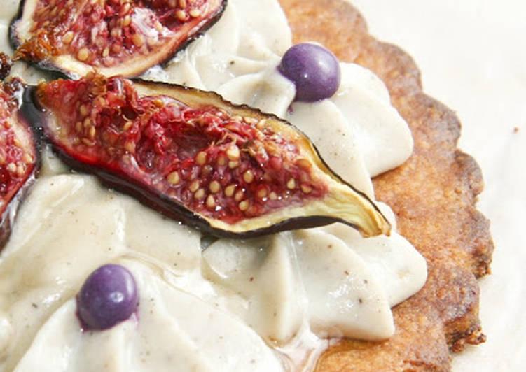 Tartelettes végétales à la crème de cajou et à la figue confite