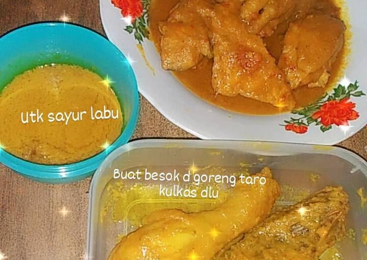 Bagaimana Membuat Ayam ungkep bumbu kuning yang Bisa Manjain Lidah
