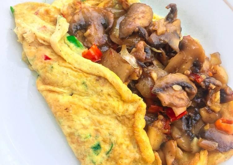 Omelette Jamur Kancing (Champignon)