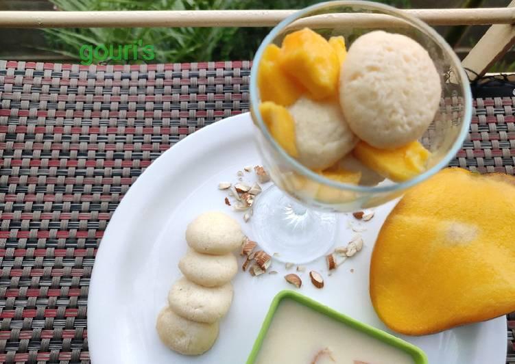 Custard mango malai