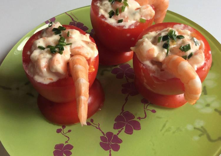 Comment faire Faire Délicieux Tomates aux crevettes mayonnaise