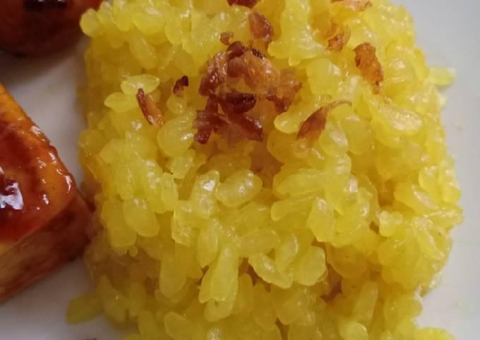 Resep Nasi Kuning Shirataki Untuk Diet Low Carb Oleh Kuni Istiana Cookpad