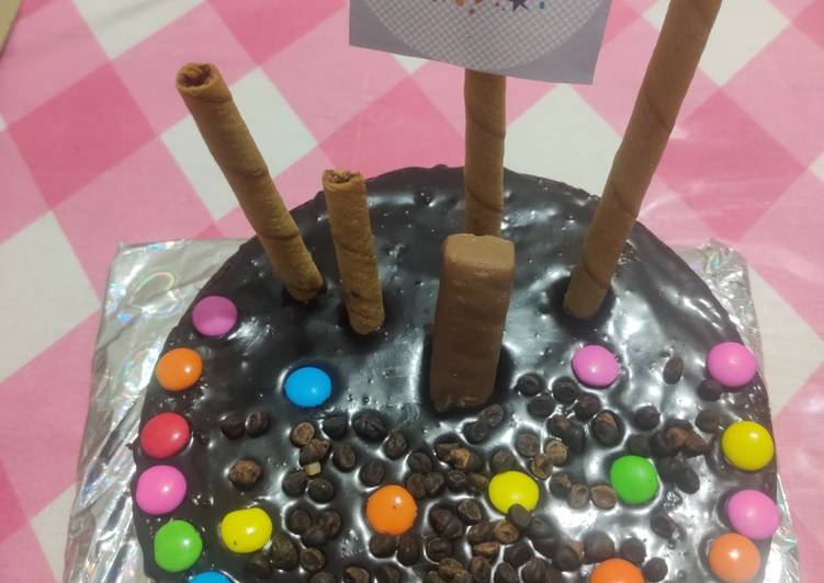 Chocolate cake with chocolate ganache- eggless