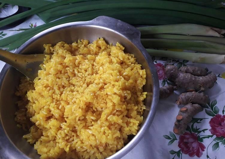 Nasi Kuning rice cooker paling mudah dan yummy