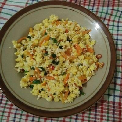Resep Orak Arik Telur Tahu Pedas Oleh Astrid Alvina Damayanty Cookpad