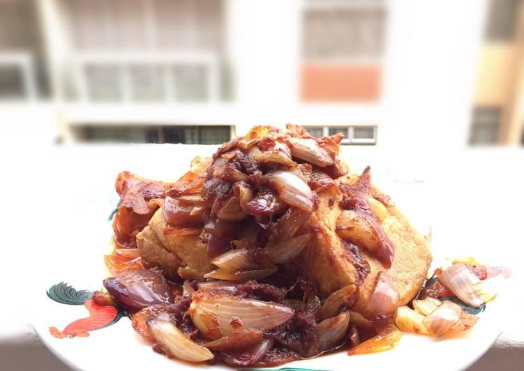 Spicy Tofu And Onion /Sambal Tofu And Onion