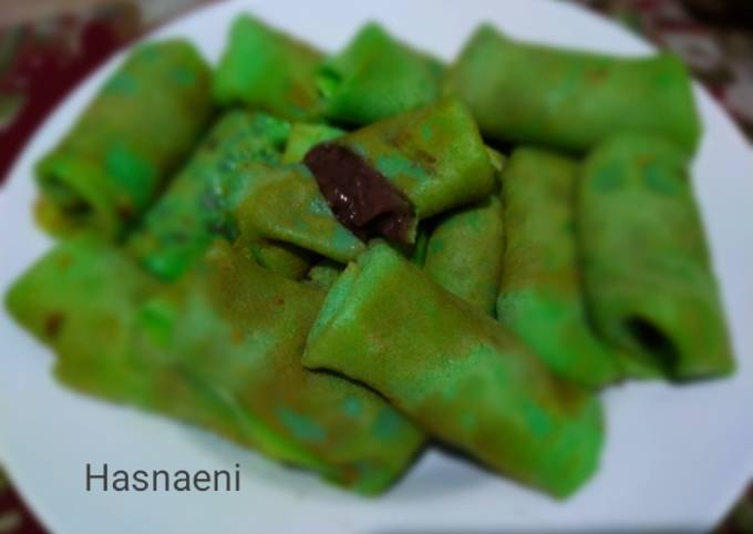 Resep Dadar gulung coklat pisang Anti Gagal