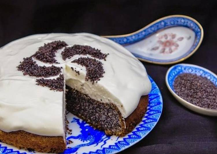 рецепт макового торта без муки с фото часть