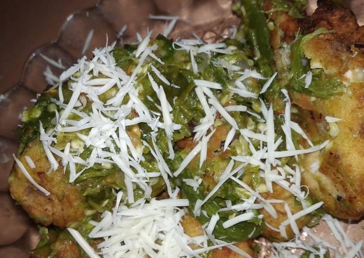 Ayam geprek keju sambal ijo
