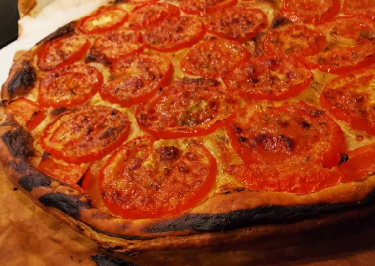 Tarte fine tomates parmesan