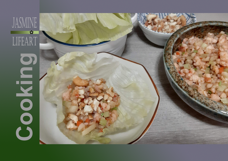 Minced Shrimp Lettuce Wrap Recipe By Jasmine Lifeart Cookpad