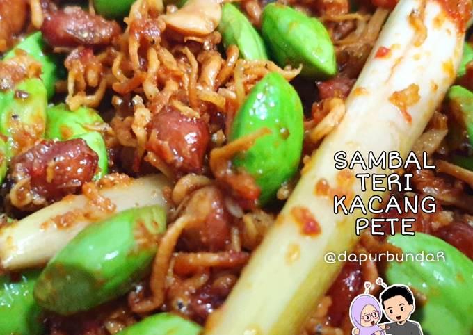 sambal teri kacang pete - resepenakbgt.com