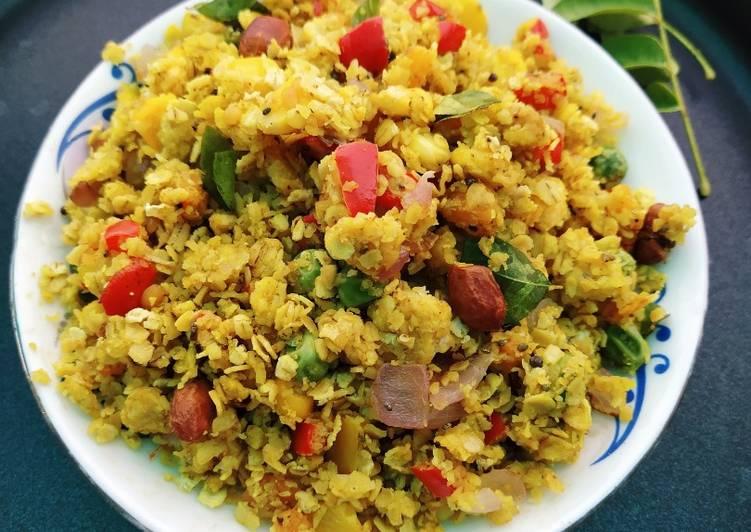 Oats veggie poha Recipe by Rashee Srivastava - Cookpad